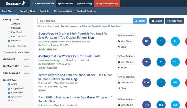 BuzzSumo Website