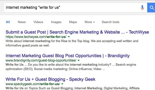 Write for Us Google Query