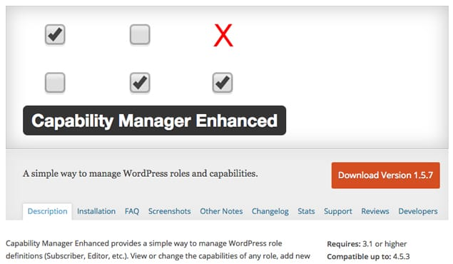 Capability Manager Enhanced