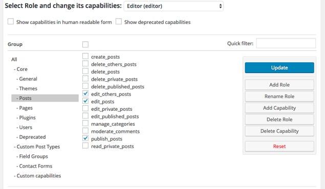 Editor Roles