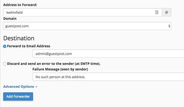 Forward Email Address