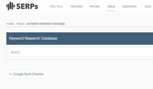 Keyword Research Database