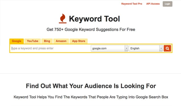 Keyword Tool Website