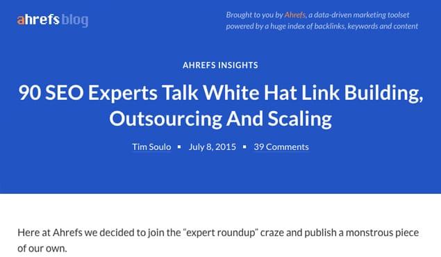 Ahrefs Expert Post