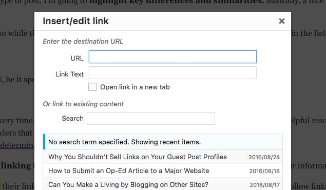Insert Link in a Guest Post