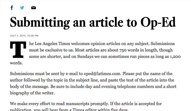LA-Times-Op-Ed Op Ed Format Example on los angeles, piece writing, editors format, page newspaper, health care paper,