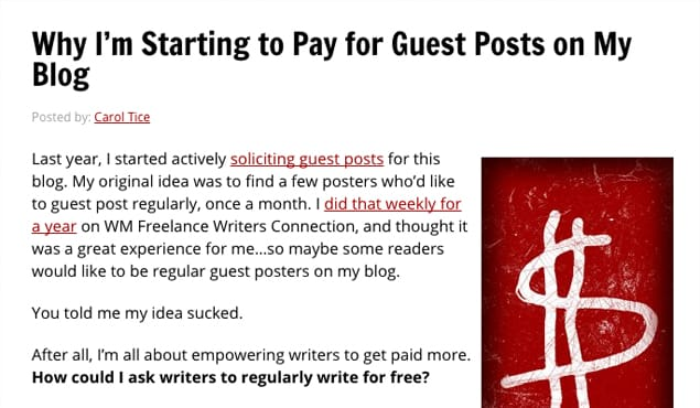 Paid for Guest Posts