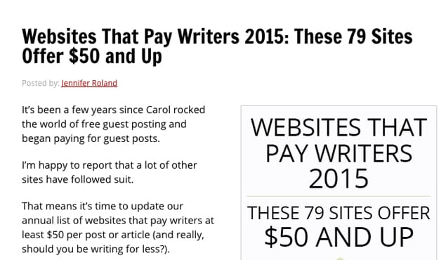Sites That Pay for Posts