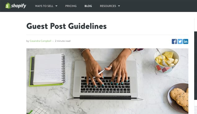 Following Guest Post Guidelines