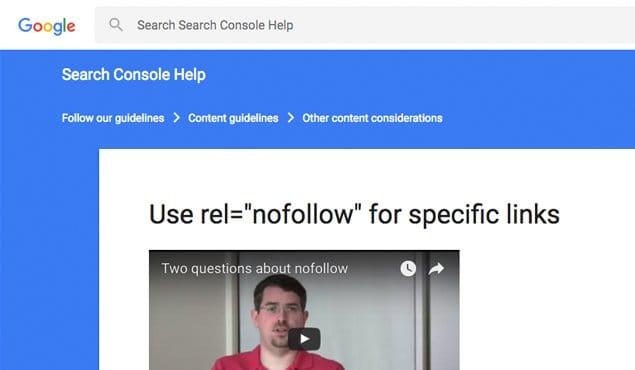 Google Nofollow Tags