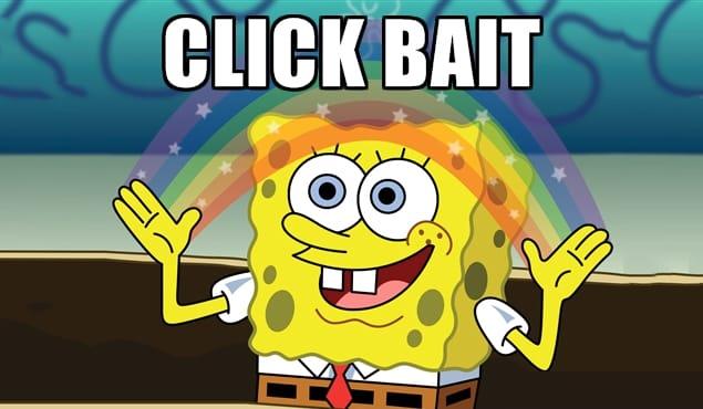 Clickbait Meme Spongebob