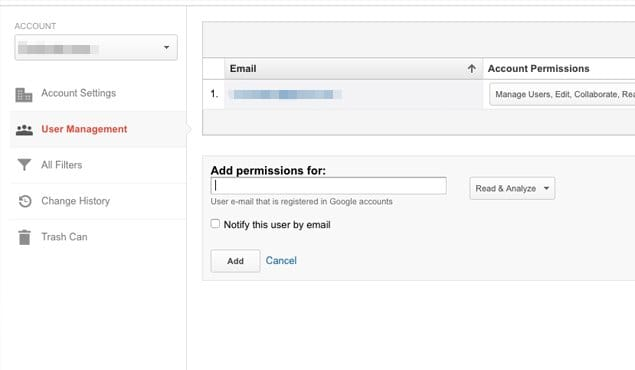 Give Permission Website Analytics