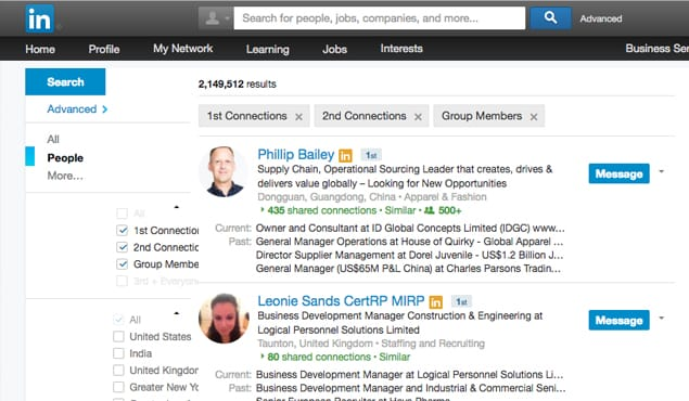 LinkedIn People Search