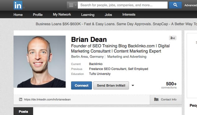 Example LinkedIn Connect