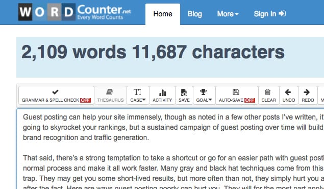 Article Word Count