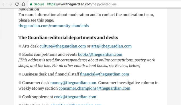 Guardian Emails