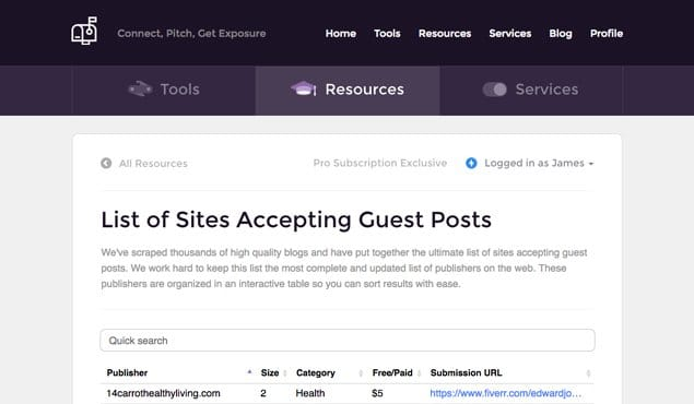 List of Sites Accepting Guest Posts