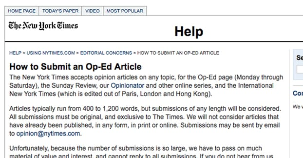How to write an op-ed column or essay
