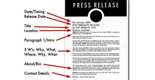 Writing a Good Press Release