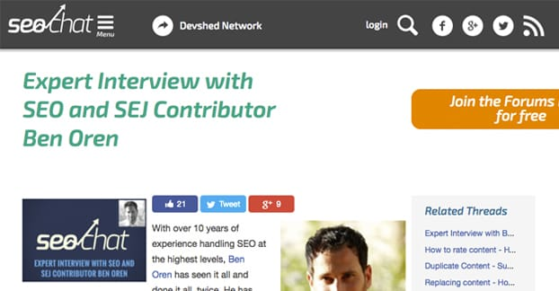 Example of an Interview Post