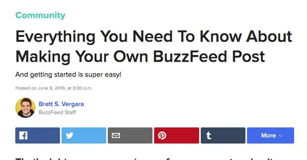 Make a BuzzFeed Post