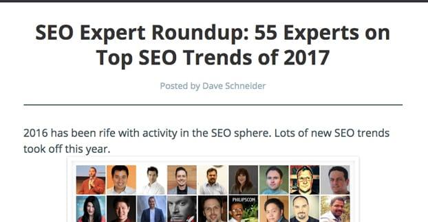 SEO Expert Roundup