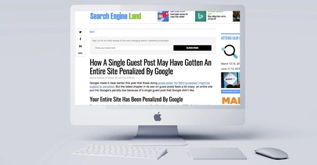 Website Penalized Guest Post