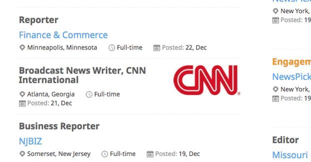 Reporter Jobs Journalism