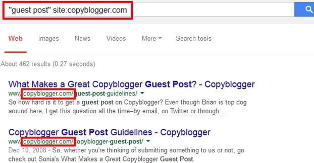 Search URL Operator