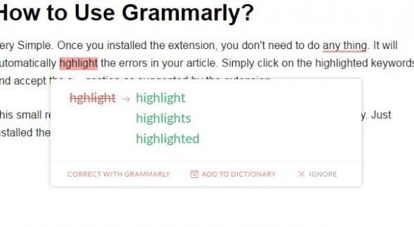Example Error Highlight