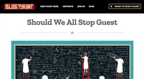Stop Guest Blogging
