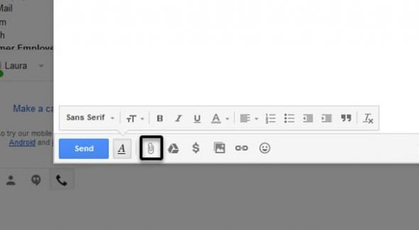 Attach a File to Gmail