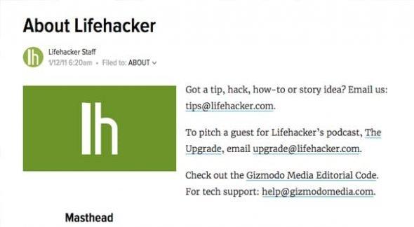 Contact Lifehacker
