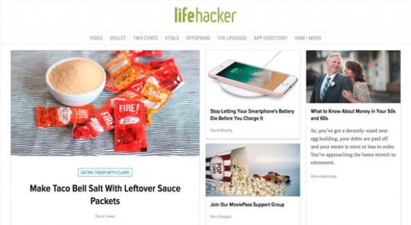 Lifehacker Homepage