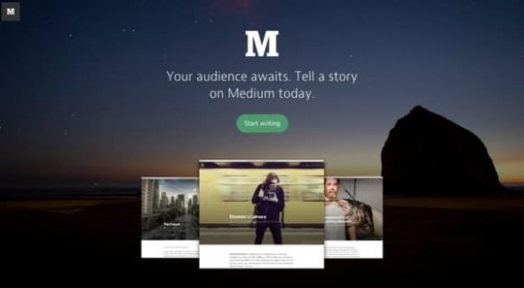 Medium Site Homepage