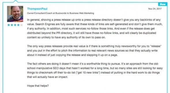 Press Release Links SEO