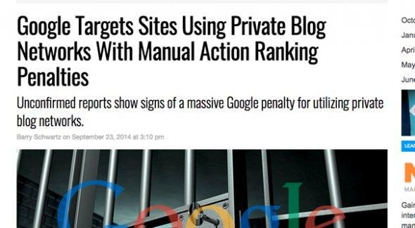 Hình phạt của Google PBN