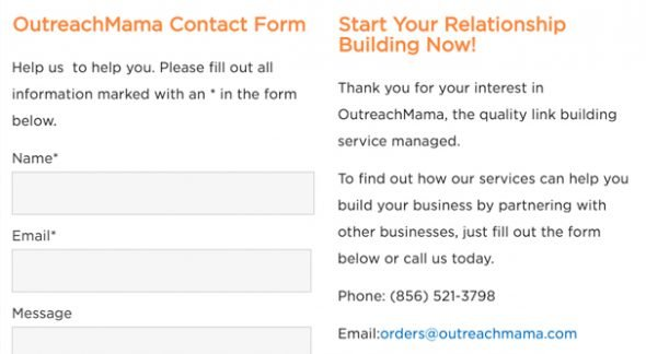 OutreachMama Contact Form