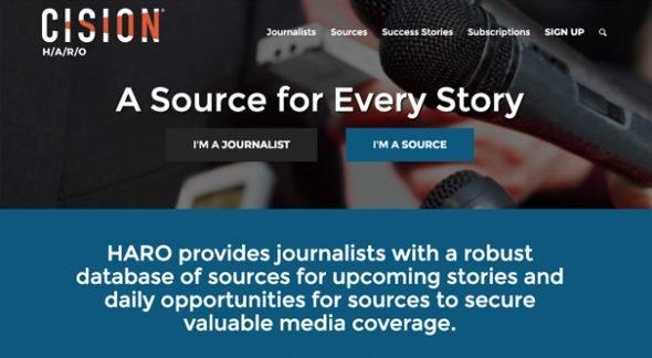 Cision HARO Homepage