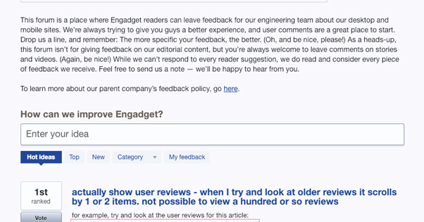 Engadget User Voice