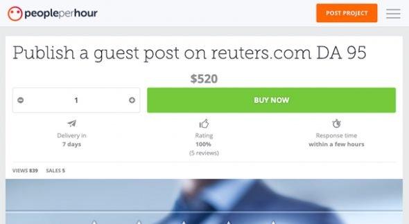 People Per Hour Reuters Job