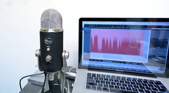 Podcast Microphone Setup Example