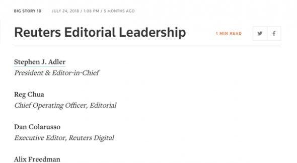 Reuters Leadership Editors