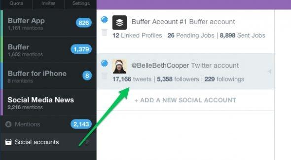Twitter Mentions Screenshot