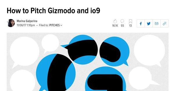 How to Pitch to Gizmodo