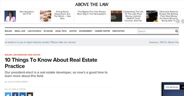 Above The Law Example Article