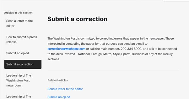 Submit a Correction