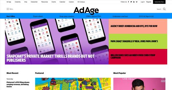 AdAge Homepage