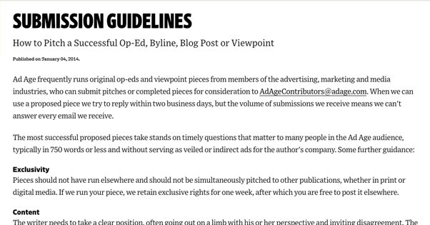 AdAge Submission Guidelines