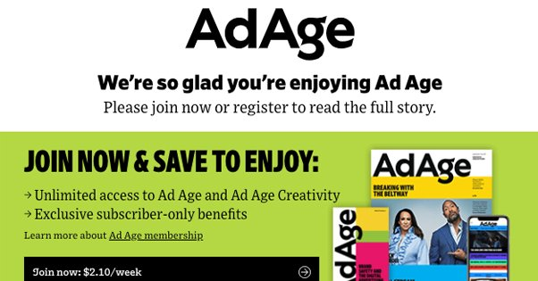 AdAge Subscription Popup